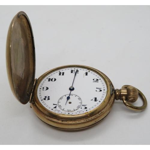 155 - Full Hunter pocket watch - needs attention