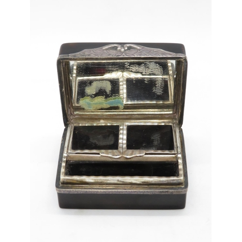 280 - Fine gold and tortoiseshell and silver patch box - very fine condition...