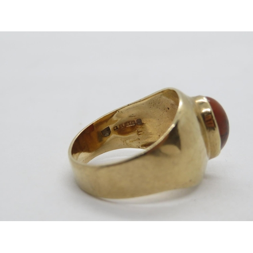 291 - 9ct man's ring  5.7g  size R...