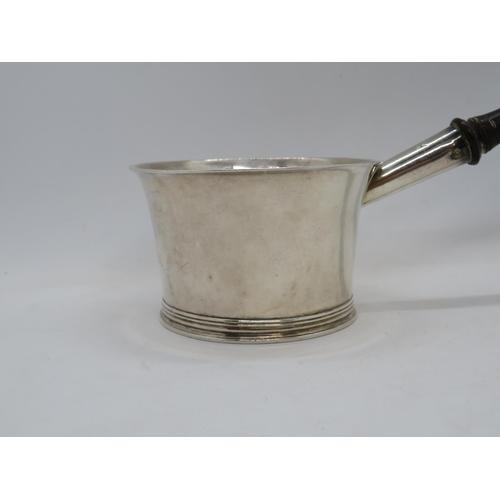 312 - Silver and ebony brandy warming pan 8