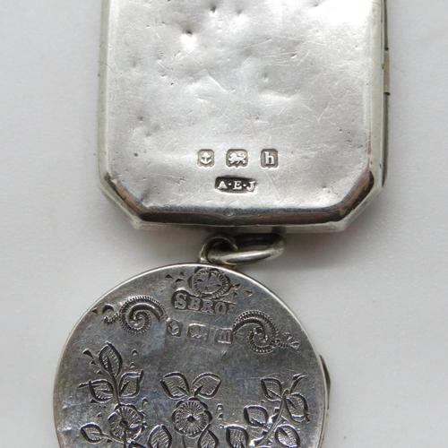 11 - 3 small silver lockets