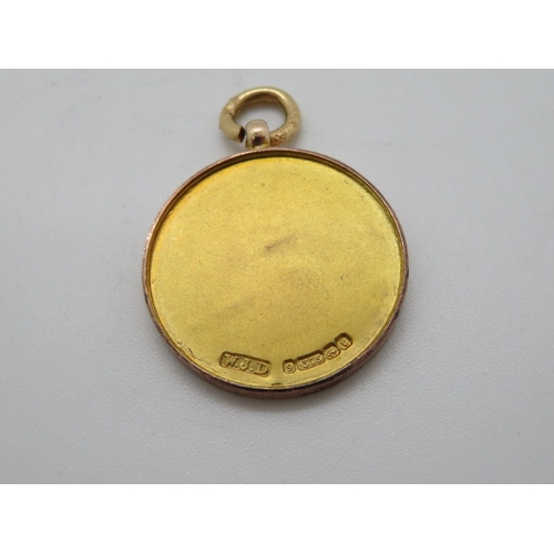 353 - Rare gold medal awarded to Lt JD Milburn for valour in The Great War 1914/18 by residents of Guyzanc...