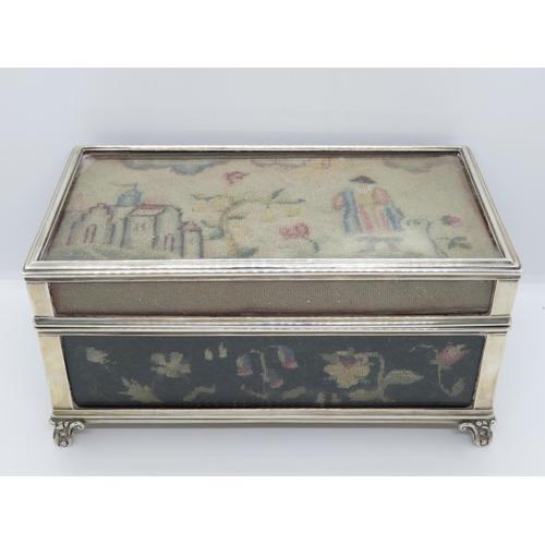 356 - Fine quality large antique silver casket 9