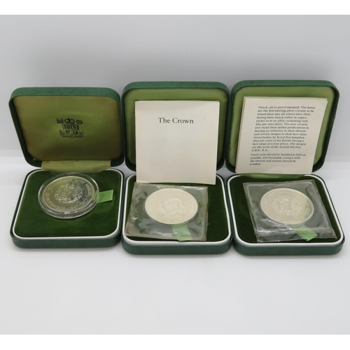 3x boxed Elizabeth and Philip coins