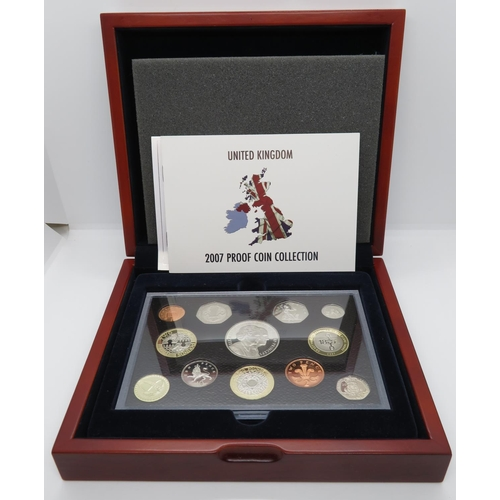 Executive proof collection for 2002 in wooden box