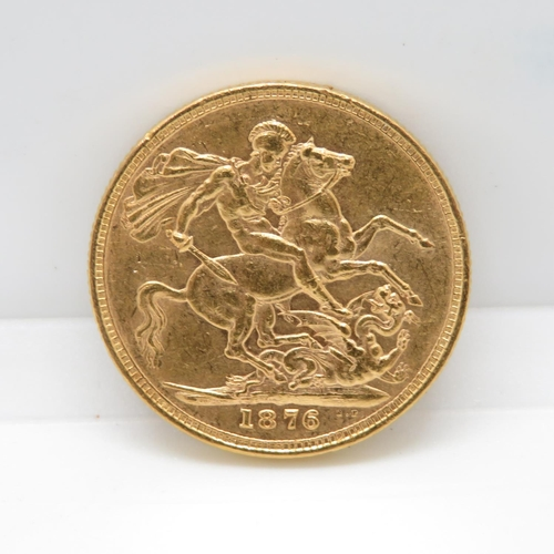 VF condition 1876 full sovereign