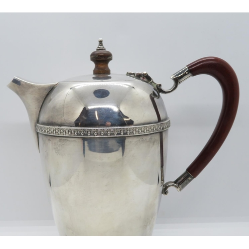 10 - Fine Art Deco silver HM heavy gauge coffee pot 22.76oz
