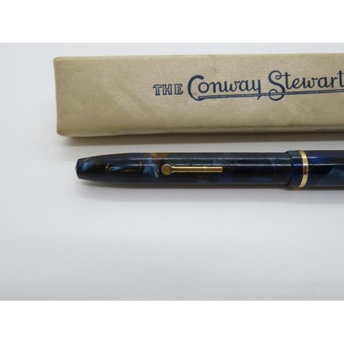 14 - Boxed Conway Stewarts pen 14ct gold nib