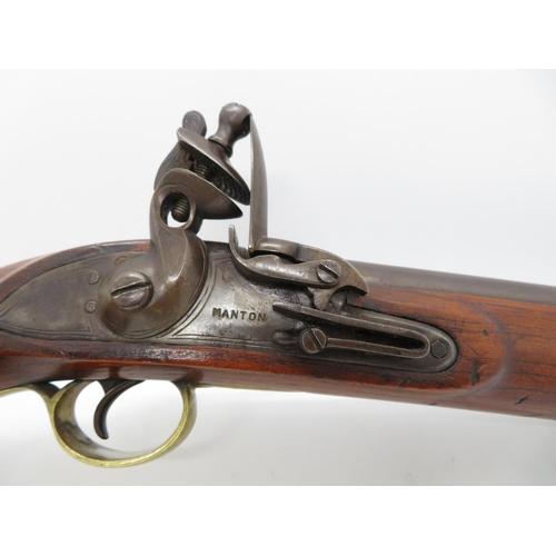15 - Manton flintlock pistol 16