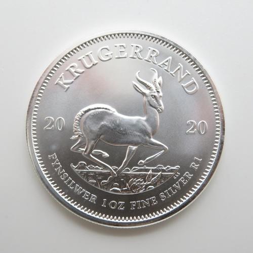 Krugerrand 2020 fine 1oz silver coin