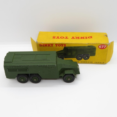 Boxed Dinky 677 Armoured Command vehicle