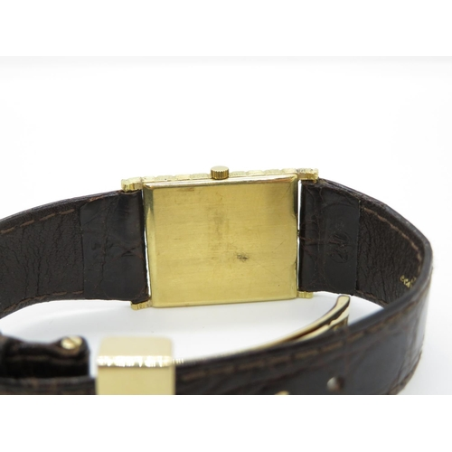 47 - 18ct gold Vacheron & Constantin chequer dial HM men's wristwatch with original strap and 18ct foldov...