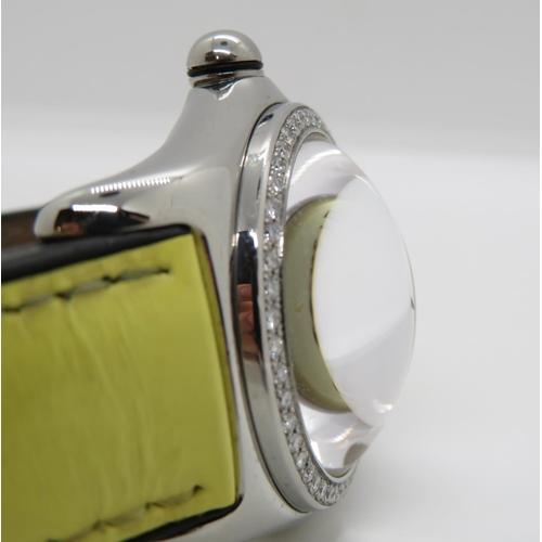 49 - Corum Bubble watch diamond bezel and original box in near mint condition