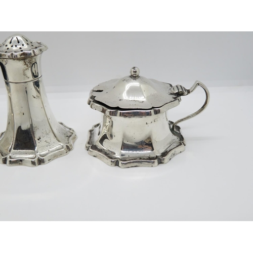 5 - Brights of Bournemouth boxed HM silver condiment set