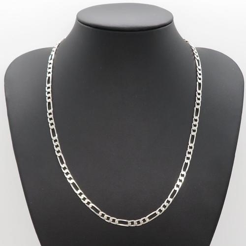 59 - HM silver figaro link chain 20