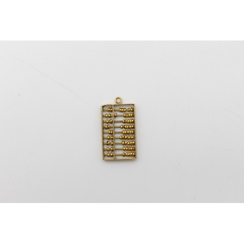 14ct abacus charm / pendant 0.9g