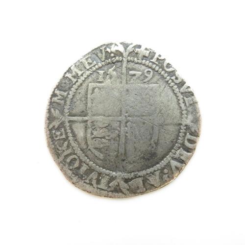 325 - Elizabeth I hammered coin 25mm dia.