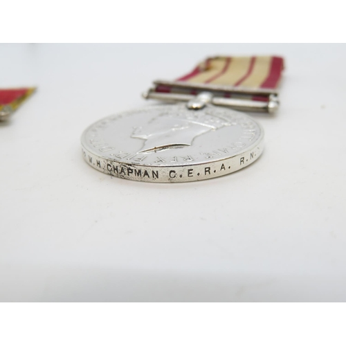 332 - Set of medals - one with Korea bar - to O/MX53002 W.H. Chapman CERARN with Oak leaf mentioned in des...