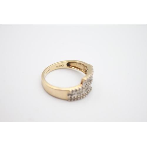 19 - 9ct gold diamond dress ring 3.2g Size N