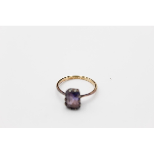 23 - vintage 14ct gold synthetic colour change sapphire ring 2.5g Size N