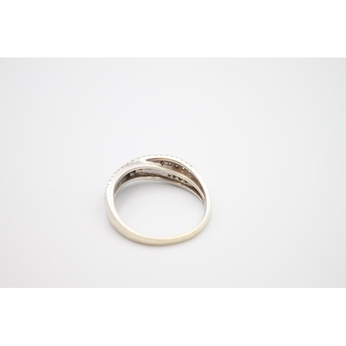 29 - 9ct white gold diamond dress ring 3.6g Size P
