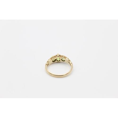 37 - vintage 9ct gold peridot set ring 2.5g Size L