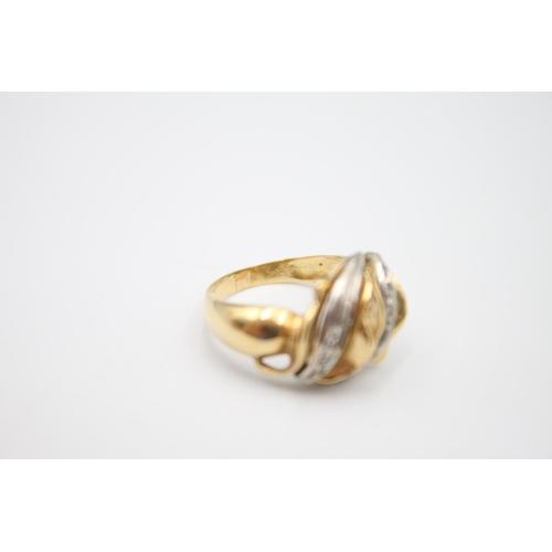 5 - 14ct gemstone set fancy dress ring 6.2g Size O