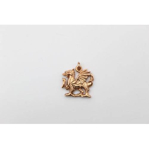 57 - 9ct Gold Cymru Gold dragon pendant 2.2g