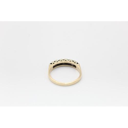 59 - Vintage 9ct Gold sapphire & diamond detail ring 2.3g Size O