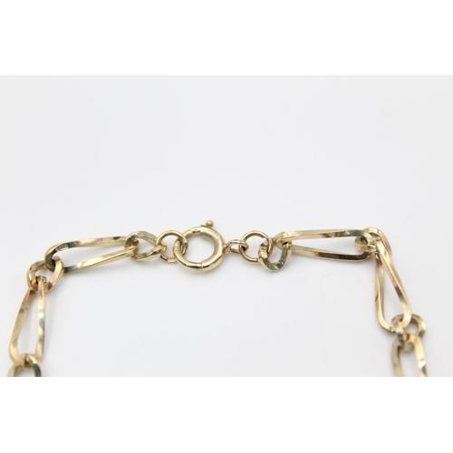 9 - vintage 9ct gold fancy link bracelet 6.2g