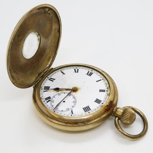 15 - Half Hunter pocket watch - not running