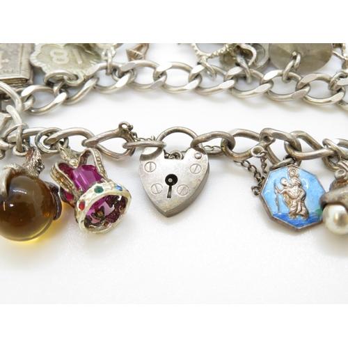 17 - Charm bracelet 65g silver