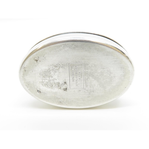 23 - Small silver lidded box Scots Guards