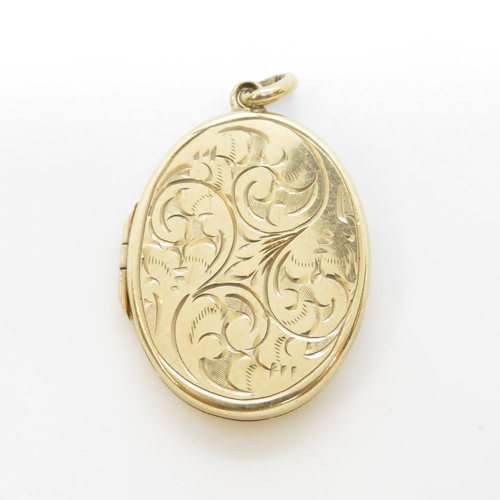 27 - 9ct gold locket and chain 8.1g