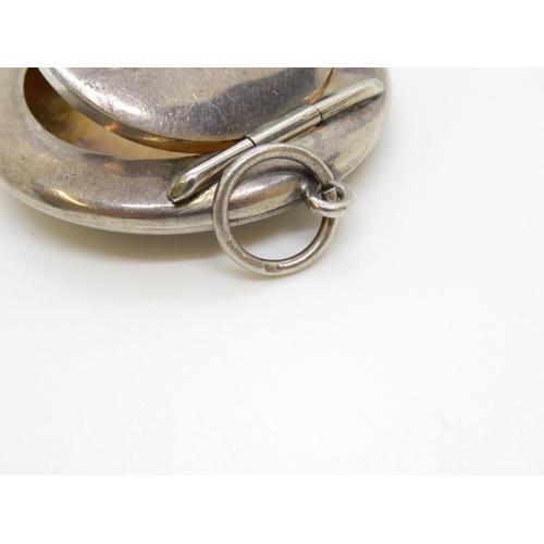 29 - HM silver lidded tin