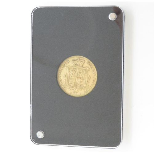 3 - Encapsulated Queen Victoria half sovereign in wooden display box