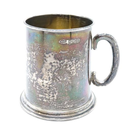33 - HM silver christening jug 63g initials to front 1933