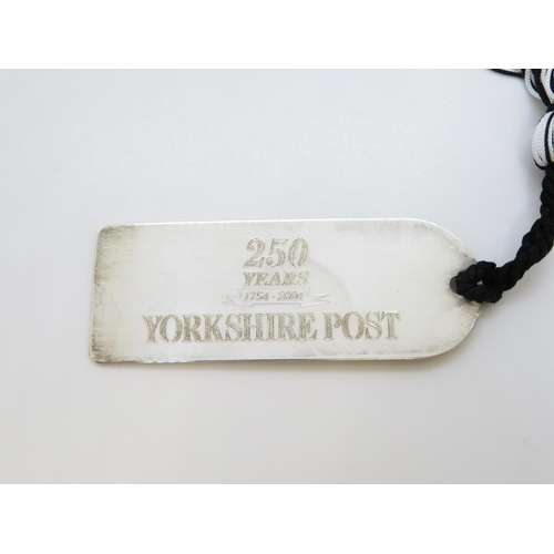 38 - HM silver bookmark 250 years of Yorkshire Post