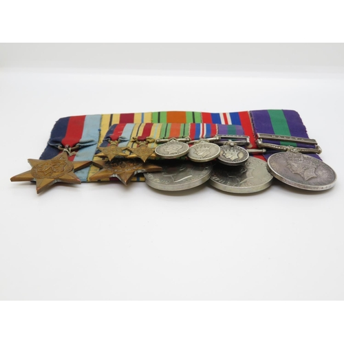 39 - Set of 5x medals and miniature medals to Major GL Parker RASC with Malaya bar