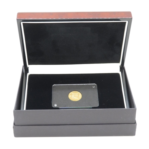 4 - Encapsulated half sovereign 1883 in wooden display box