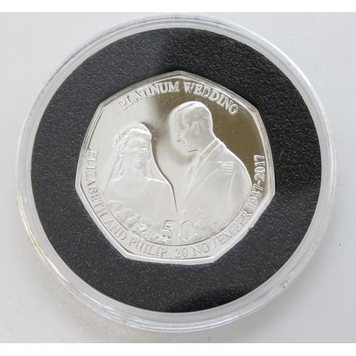 9 - 1997 UK silver proof Piedfort 50p in wooden box