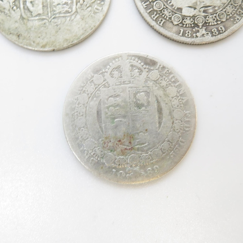 15 - George III and William IV and Victorian half crowns 1819 1834 1836 1837 1889 x2 1892 x2 1898 1885 18...