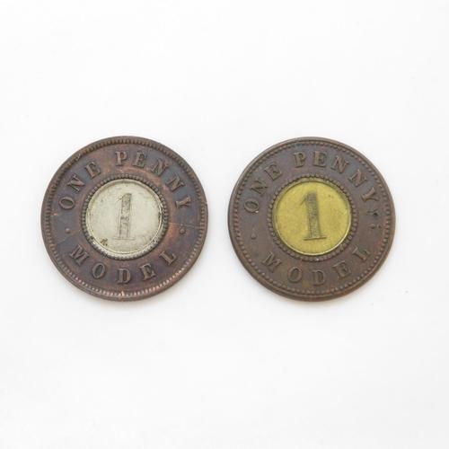 18 - 2x Victorian model tokens