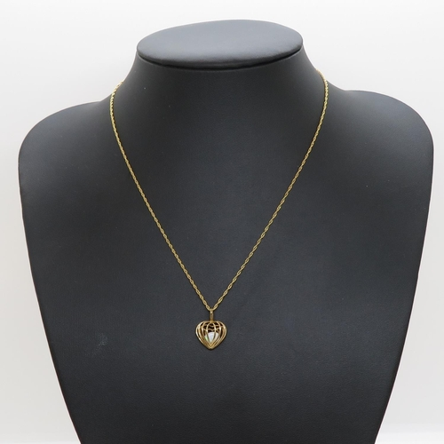 9ct gold pendant with chain 2.3g fully HM