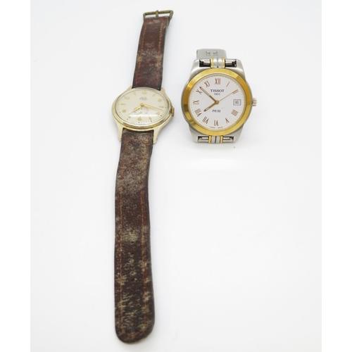 Smiths Empire 7 jewel shockproof gent's watch and Tissot 1853 PR50 watch