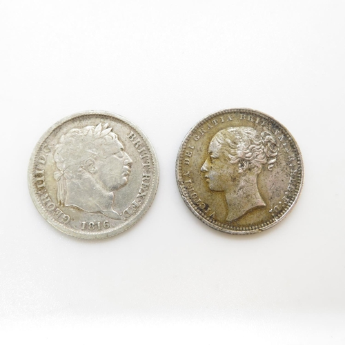 26 - 1816 and 1871 shillings