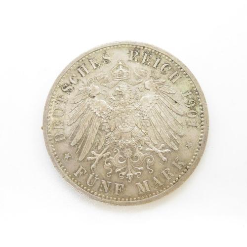 37 - Freidreich/Willhelm 1701/1901 Anniversary 5Marks GF