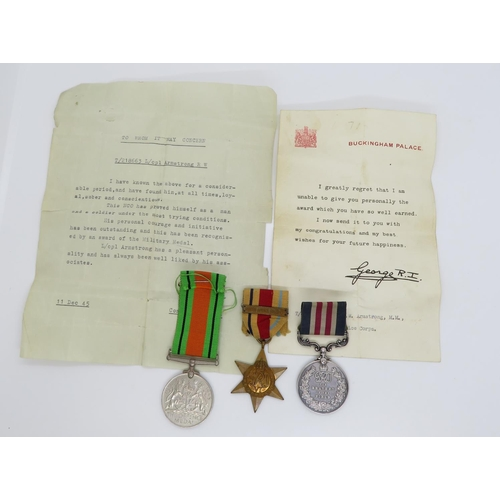 40 - George VI Military Medal group includes Bravery in the Field medal awarded to T/218663 L.Cpl.R.W. Ar...