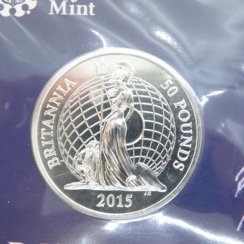 47 - Royal Mint 2015 Britannia £50 silver coin and £20 silver coin
