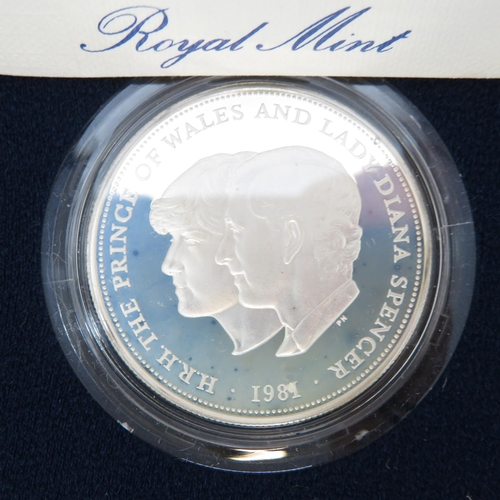 49 - Royal Mint UK silver proof crowns for 1972 1980 and 1981 all in original cases with certs